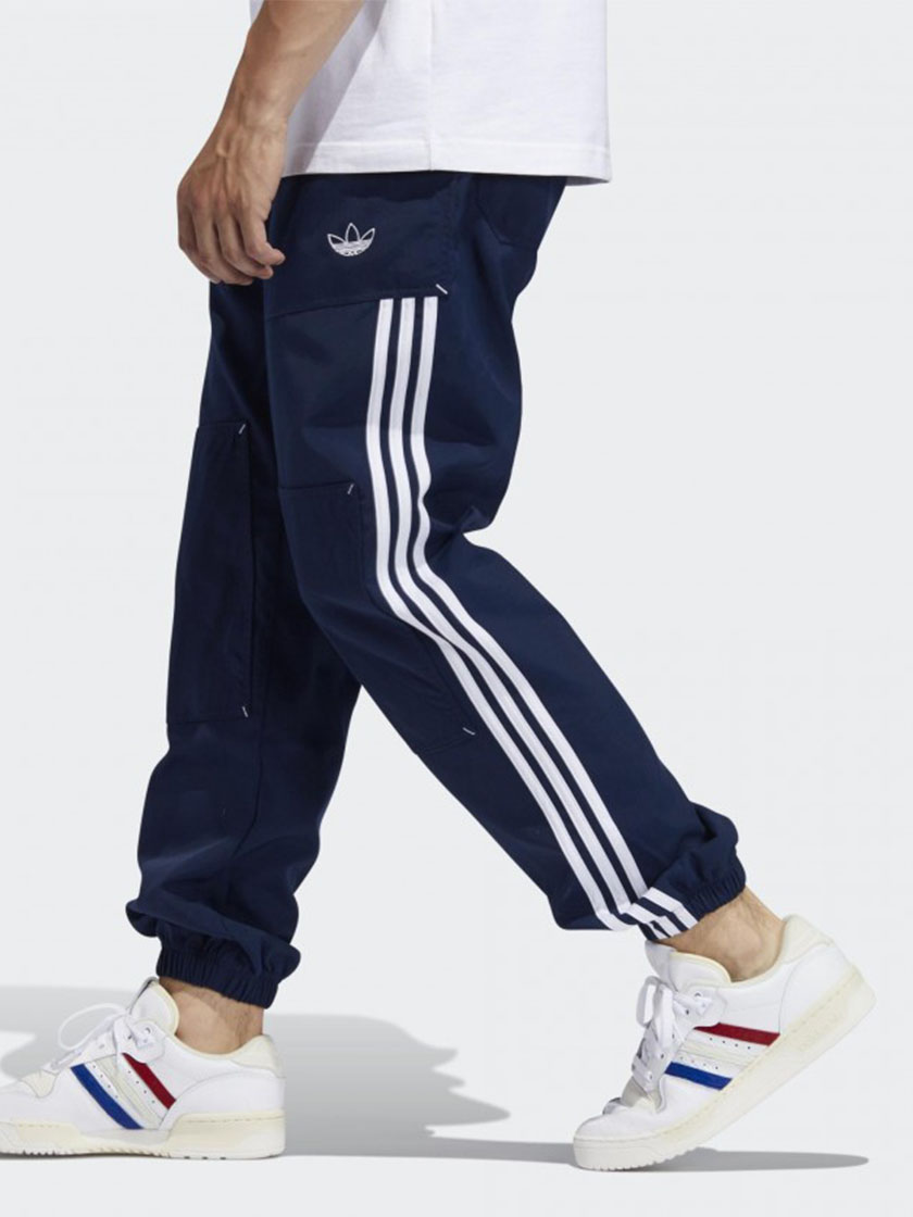 Брюки Adidas Originals ASW WORKWEAR цвет Синий - 2